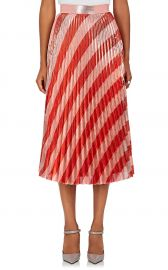 Pleated Striped Lame Midi-Skirt  Off-White co Virgil Abloh at Barneys
