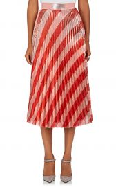 Pleated Striped Lame Midi-Skirt by Off-White co Virgil Abloh at Barneys