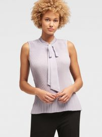 Pleated Tie-Neck Top by DKNY at DKNY