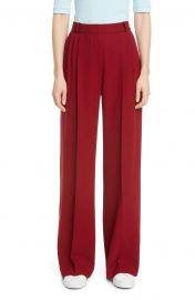 Pleated Wide Leg Wool Trousers at Nordstrom