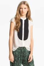 Pleated bib blouse by Haute Hippie at Nordstrom