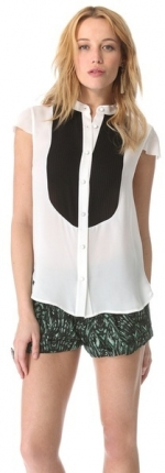 Pleated bib top by Haute Hippie at Shopbop
