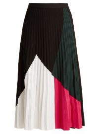 Pleated crepe-jersey skirt at Matches