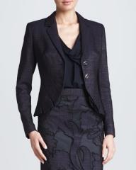 Pleated cutaway jacket by Escada at Neiman Marcus