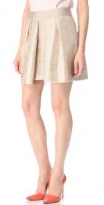 Pleated metallic skirt like Lemons at Shopbop