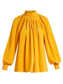 Pleated silk crepe de Chine top at Matches