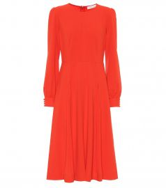 Pleated stretch-cr  pe dress at Mytheresa