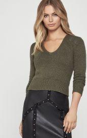Pleather Trim Sweater at Bcbg
