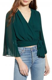 Pleats Thank You Wrap Top by Lulus at Nordstrom