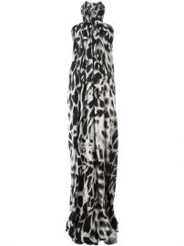 Plein Sud Animal Print Halterneck Long Dress at Farfetch