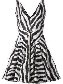 Plein Sud Zebra Print Flared Dress - at Farfetch