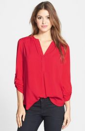 Pleione Mixed Media Tunic at Nordstrom