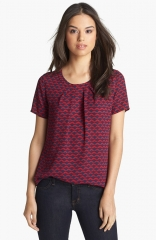 Pleione pleated woven top at Nordstrom