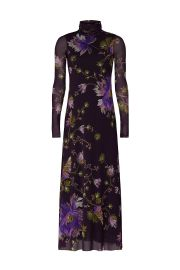 Plum Floral Dress by Fuzzi at Rent The Runway