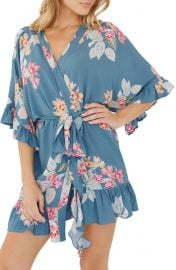 Plum Pretty Sugar Flutter Floral Robe at Nordstrom