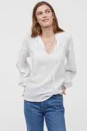 Plumeti Cotton Blouse at H&M