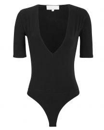 Plunging Neckline Jersey Bodysuit at Intermix