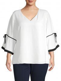 Plus Kimono-Sleeve Top at Saks Off Fifth Avenue