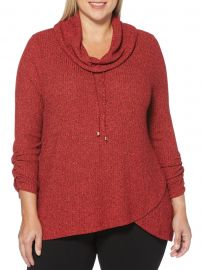 Plus Marled Cowlneck Sweater at Lord and Taylor