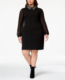 Plus Size Embellished Collar Dress at Macys