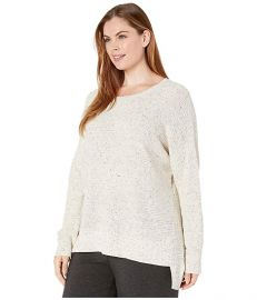 Plus Size Organic Cotton Speckle Round Neck Box-Top at Zappos