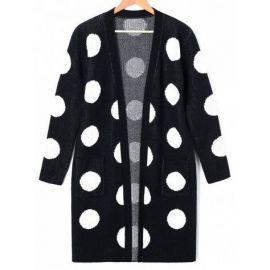 Plus Size Polka Dot Tunic Cardigan by Zaful at Zaful