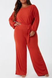 Plus Size Ribbed Jumpsuit  at Forever 21
