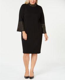 Plus Size Studded Sheath Dress at Macys