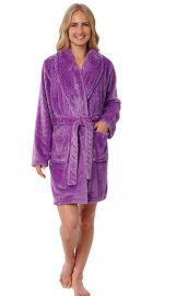 Plush Fleece Chevron Bathrobe by Silver Lilly at Amazon