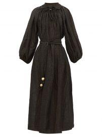 Poet balloon-sleeve linen-blend dress at Matches