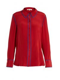 Point-collar silk-crepe shirt at Matches