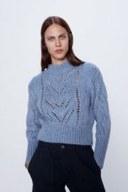 Pointelle Knit Sweater at Zara