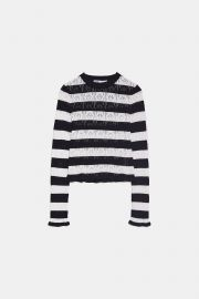 Pointelle Knit Top  at Zara