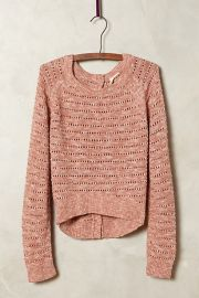 Pointelle Midi Pullover at Anthropologie