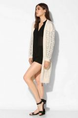 Pointelle cardigan by Kimchi Blue at Urban Outfitters