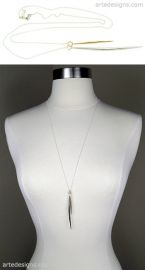 Pointy Gold and Rhodium Spike Necklace x at Arte Designs