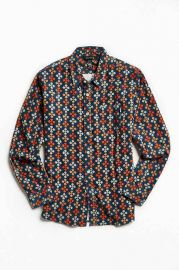 Poler Bear Paw Print Corduroy Button-Down Shirt at Urban Outfitters