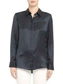 Polka Dot Classic Straight Shirt at Saks Fifth Avenue