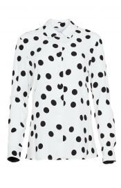 Polka Dot Button Front Top at Pearl