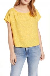 Polka Dot Dolman Sleeve Top at Nordstrom