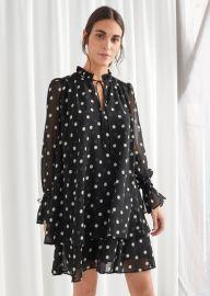 Polka Dot Layered Ruffle Mini Dress at & Other Stories
