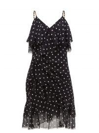Polka Dot Ruffle Mini Dress by Balmain at Matches