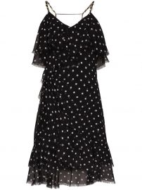 Polka Dot Ruffle Mini Dress by Balmain at Browns