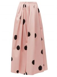 Polka-Dot Satin Midi Skirt by Christopher Kane at Matches