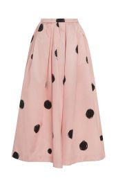 Polka-Dot Satin Midi Skirt by Christopher Kane at Moda Operandi