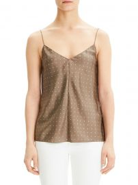 Polka Dot Silk Camisole at Saks Off Fifth
