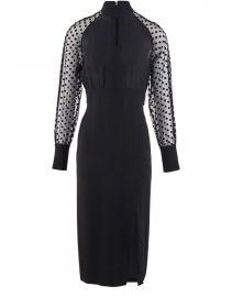 Polka-Dot Sleeve Dress by Balmain at 24S