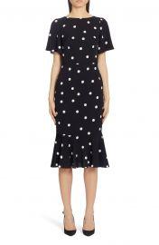 Polka Dot Stretch Silk Charmeuse Dress at Nordstrom