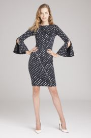 Polka Dot Zipper Dress by Teri Jon at Teri Jon