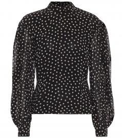 Polka-dot cr  pe blouse at Mytheresa